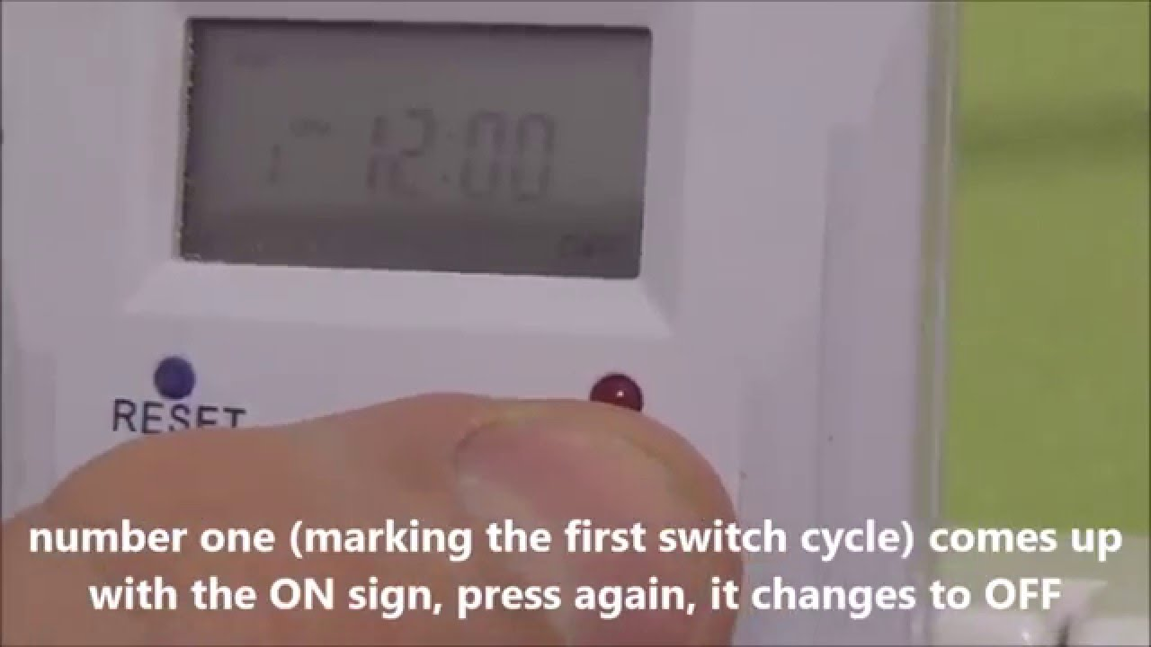 Digital timer tge 6a complete and quick instructions youtube sciox Images