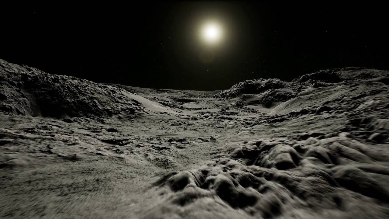 ue4 - moon landscape cinematic