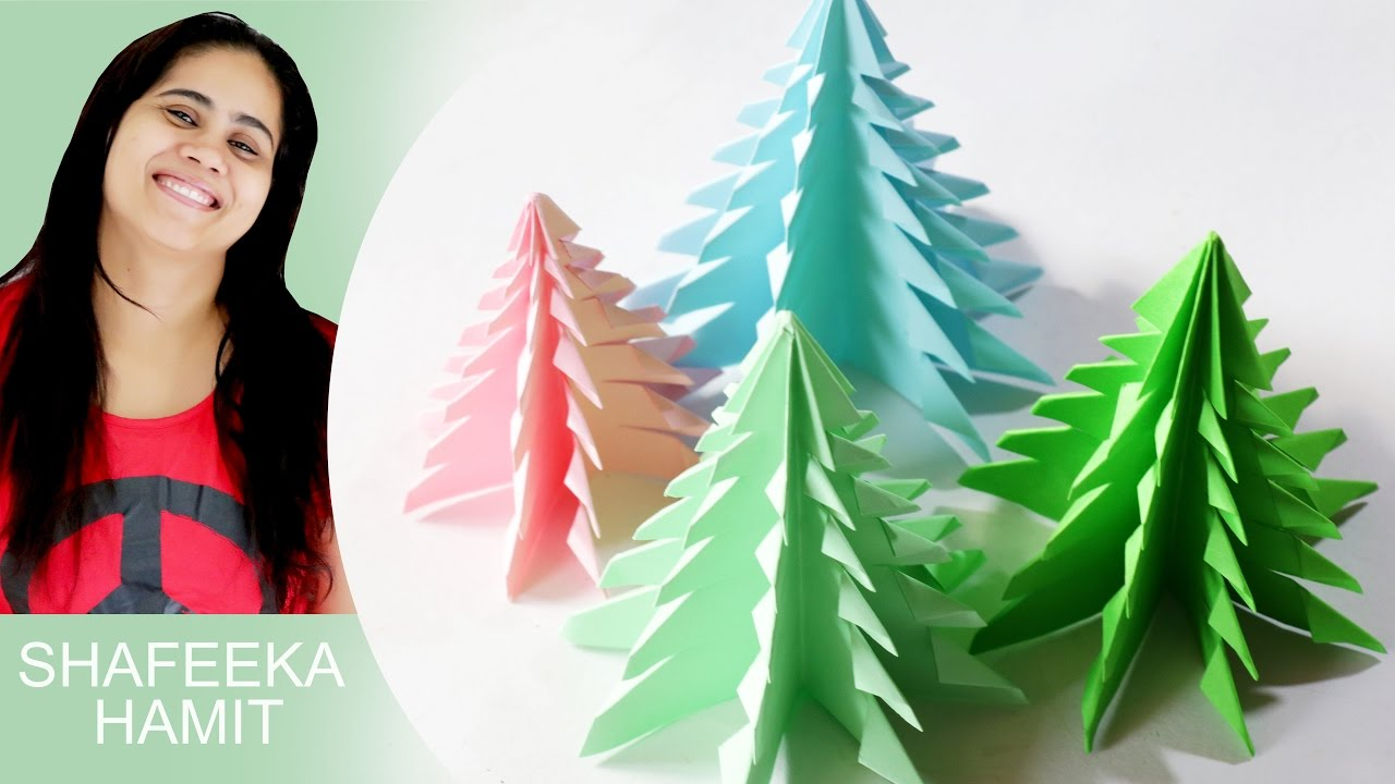 3d paper christmas tree how to make a 3d paper xmas tree