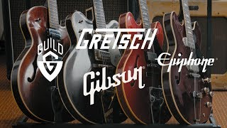Phil Hurley's 1967 Gretsch, 1967 Guild, 1980 Epiphone & 2014 Gibson Guitars