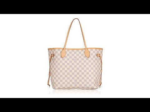 Louis Vuitton Damier Azur NM Neverfull MM Rose Ballerine