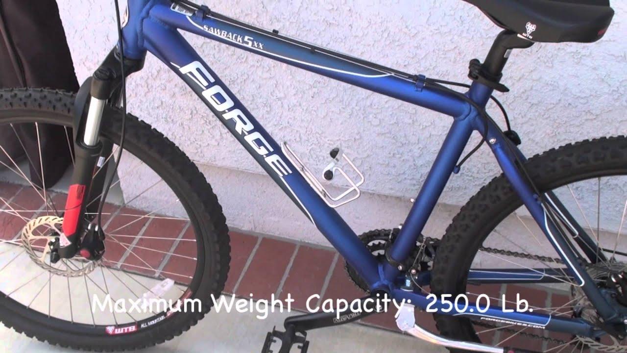 Forge Men S Sawback Hard Trail 5xx 19 Mountain Bike Blue Youtube