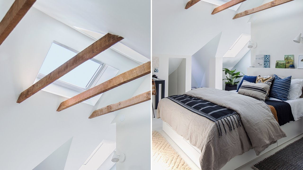 Makeover: Tour A Bright & Inviting Attic Bedroom - YouTube