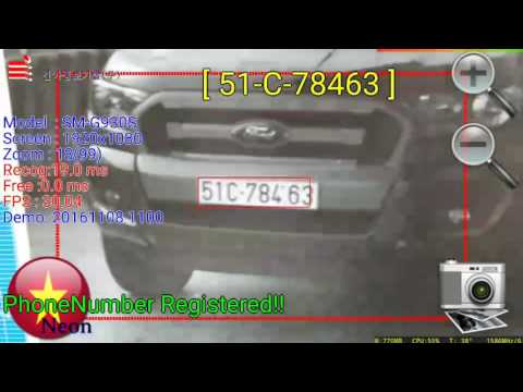 Android ANPR Realtime Vietnam License Plate Recognition!!