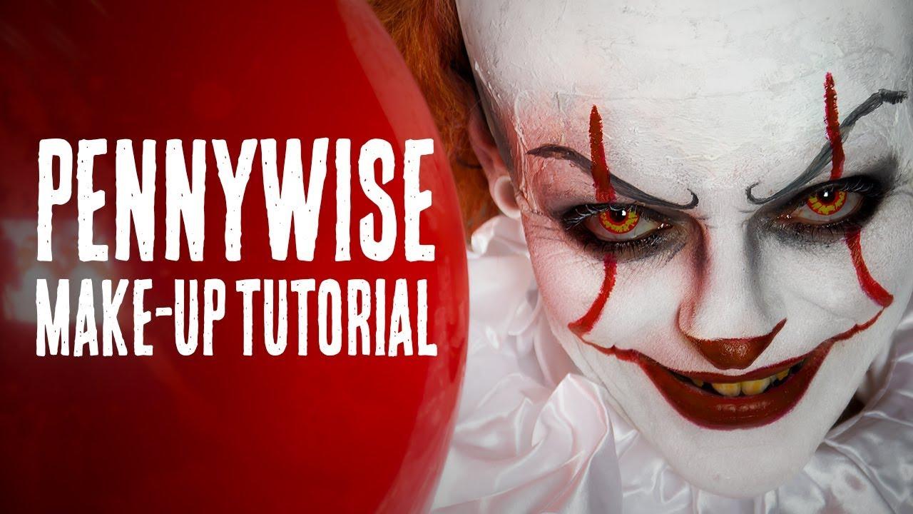 Pennywise Halloween Makeup Tutorial Deutsch It Diy