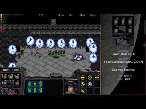 StarCraft Brood War: Sato's Poker Def Nova 2.7 x2.6 Speed Floor 58