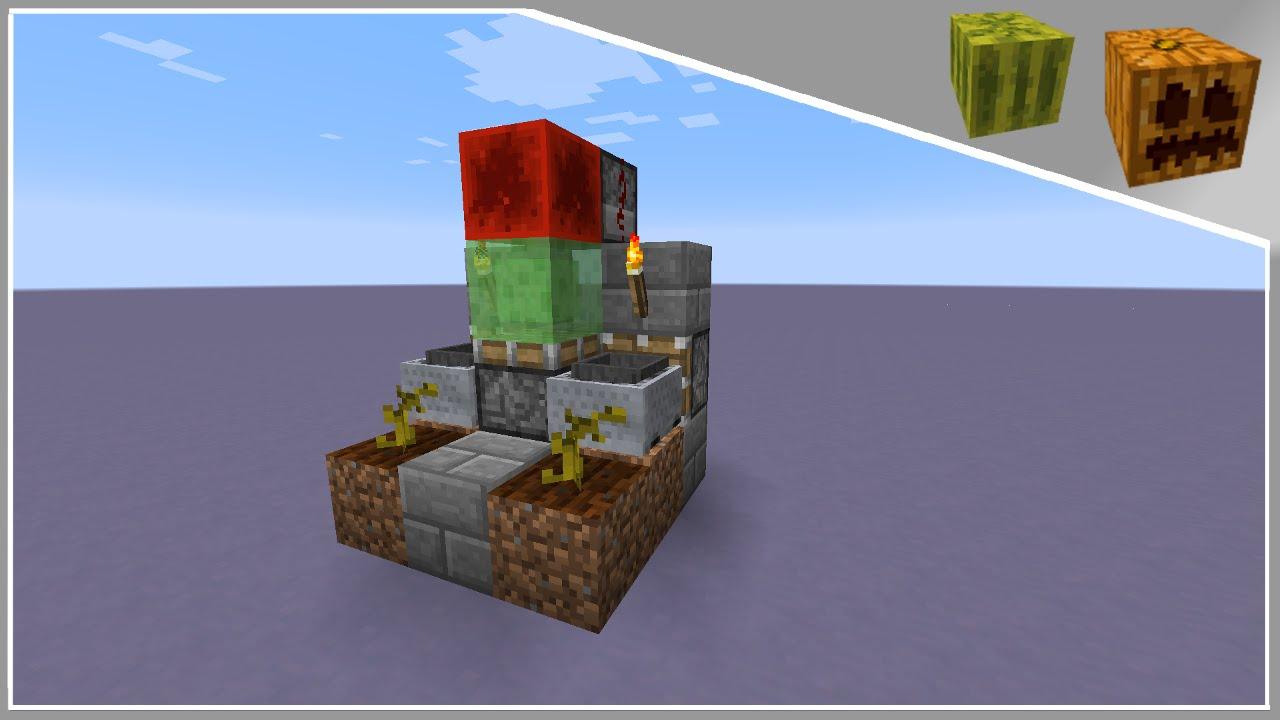 Minecraft Tutorial 3x3 Automated Pumpkin And Melon Farm 18