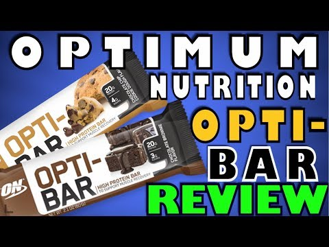 Opti Bar, High Protein Bar, By Optimum Nutrition Review