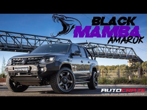 🐍BLACK MAMBA AMAROK🐍  // RollRCover, AutoCraze Rival Bar, Nitto Tyres, KMC Rockstar 2 and more