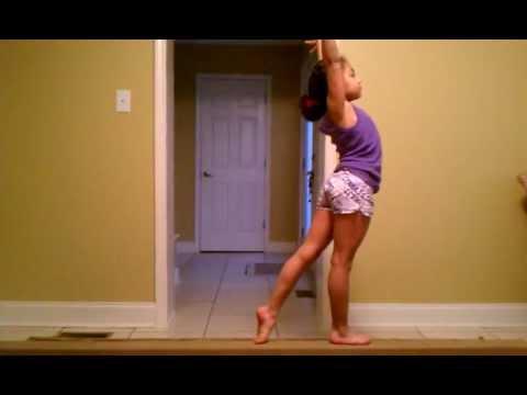 Gymnastics: Full turn on balance beam