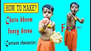 Chota Bheem / cartoon character / fancy dress for kids / how to make / handmade /DIY