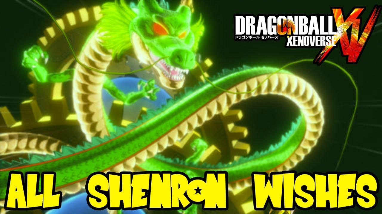 dbz xenoverse 7 dragon balls wishes