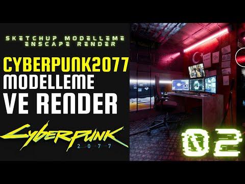 CYBERPUNK 2077 OYUNUNDAN BİR SAHNEYİ MODELLEDİK RENDER ALDIK 02