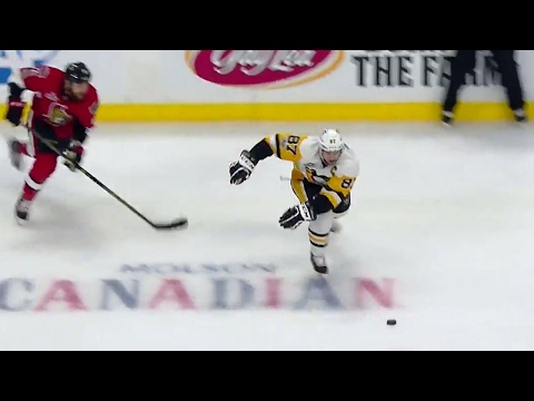 Crosby doesn't need a stick to handle the puck or make a pass