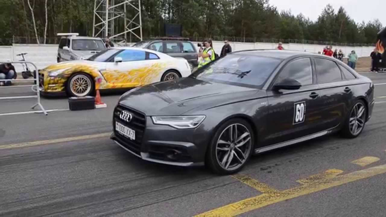 Audi S6 V8t Vs Nissan Gt R Lucifer Youtube