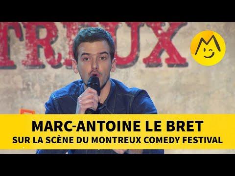Marc-Antoine Le Bret sur la scène du Montreux Comedy Festival