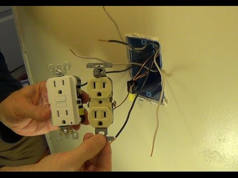 How to Install a Ground Fault Circuit Interrupter (GFCI) Outlet Plug