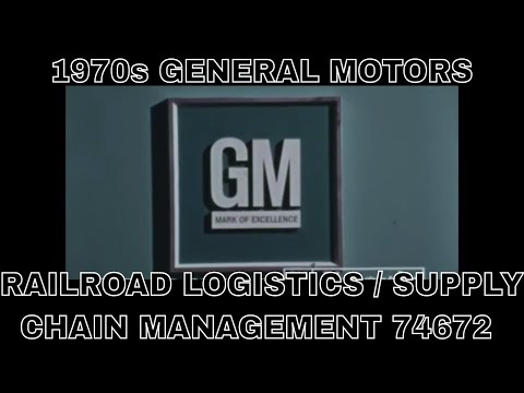 1970s GENERAL MOTORS RAILROAD LOGISTICS / SUPPLY CHAIN MANAGEMENT 74672