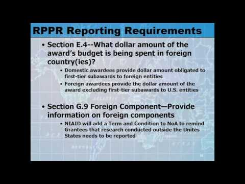 Two Reporting Requirements to Take Note of in the RPPR