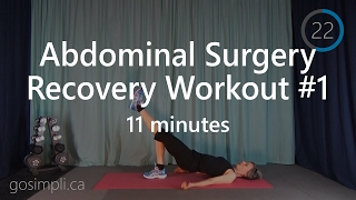 Post Abdominal Surgery Recovery Workout 1: C-Section Recovery Workout