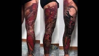Dragon Leg Tattoo Designs For Men, Masculine Ink Design Ideas, Dragon Tattoos On Leg/Masculine #1