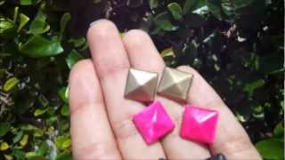 Download DIY How To Make Stud Earrings Mp3 and Videos