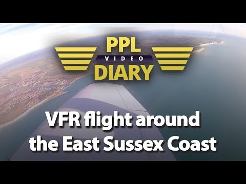 VFR flight around the East Sussex Coast - PA28 Full ATC