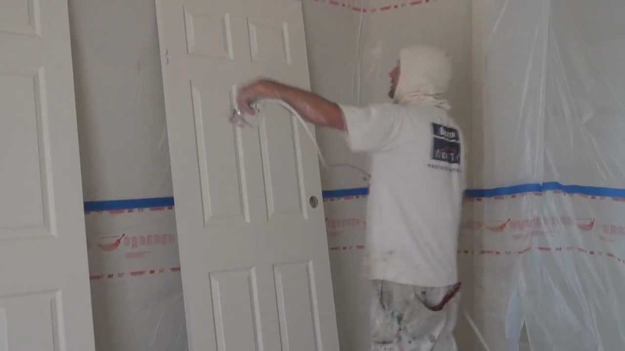 How To Spray Doors   How To Spray Interior Doors With Oil Based Paint Using  An Airless Sprayer   YouTube