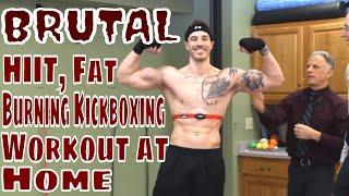 Brutal HIIT, Fat Burning Kickboxing Workout at Home