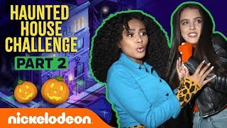 Daniella & Lilimar Get CHASED 🏚️ in the Haunted House Challenge Pt. 2   Nick