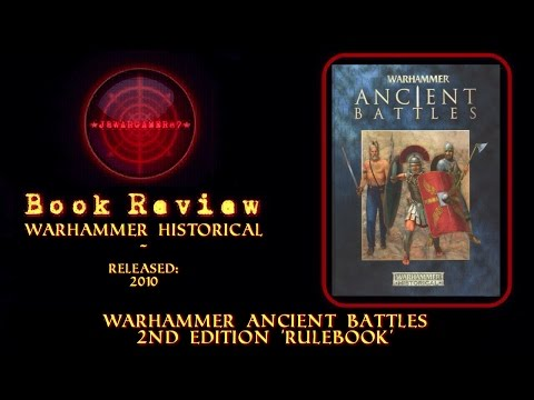 Warhammer Ancient Battles Book Review 2nd Edition Rulebook by Games Workshop
