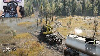 Missing oil tank - SnowRunner | Logitech g29 gameplay