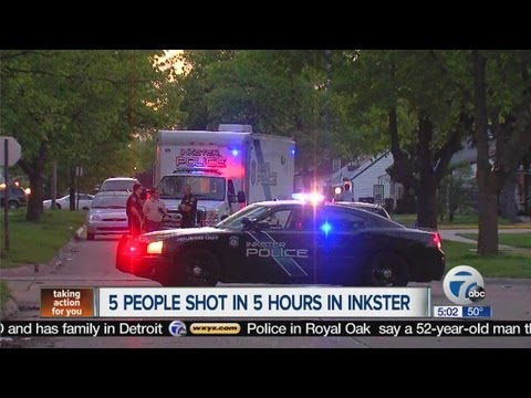 Five people shot in Inkster
