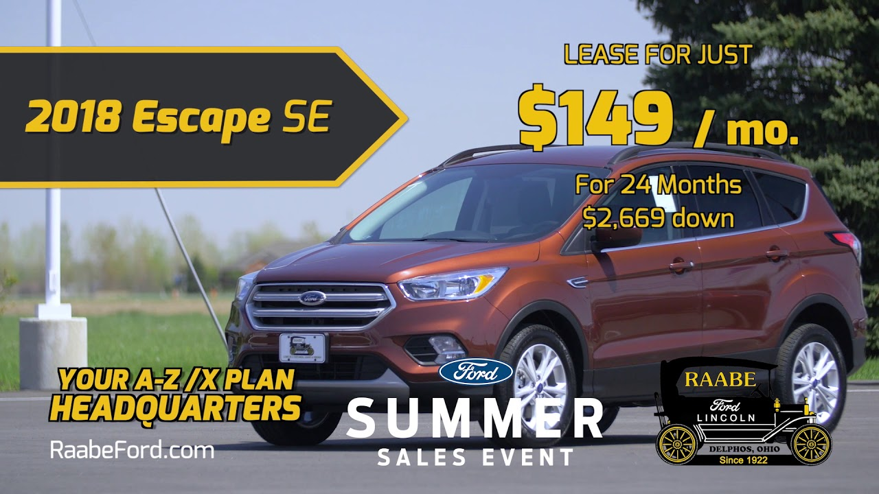 Raabe ford august 2018 lease rebates and incentives