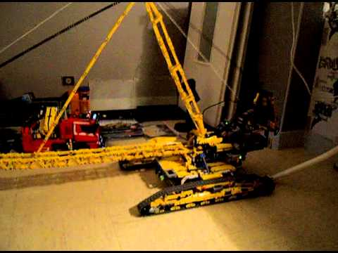 lego technic 8043 pelle bulldozer chargeur plein d autres model grue geante de 1metre50 youtube. Black Bedroom Furniture Sets. Home Design Ideas