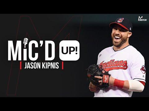 Jason Kipnis of the Cleveland Indians Get's Mic'd Up for Batting Practice