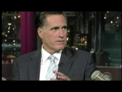 Mitt Romney On David Letterman 3/2/10 Part 1