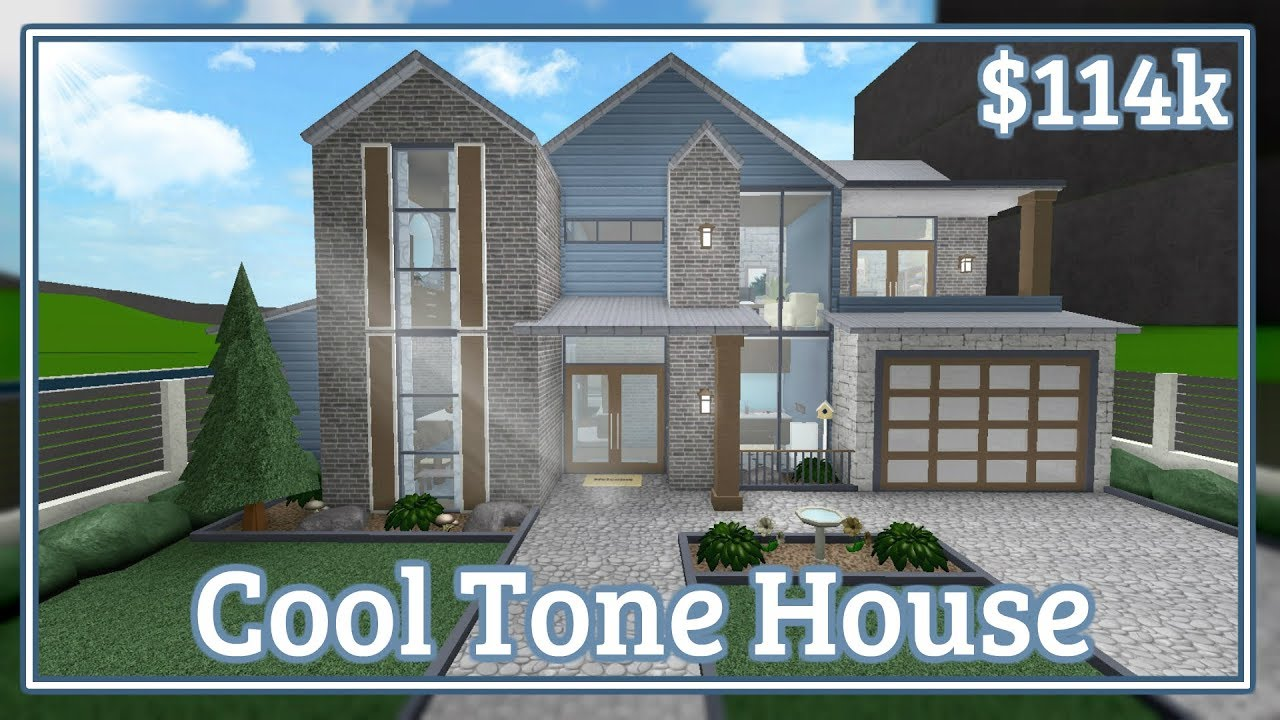 Bloxburg - Cool Tone House Speed-build - YouTube