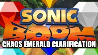 Sonic Boom News - Chaos Emerald Clarification, Could Be Part Of Boom Universe