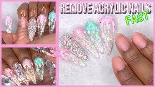 Acrylic Nails Tutorial - Remove Acrylic Nails FAST - No Soaking or Filing - Peel Off Base Coat