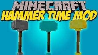 HAMMER TIME MOD - Rompe 9 bloques en 1!!! - Minecraft mod 1.7.10 Review ESPAÑOL