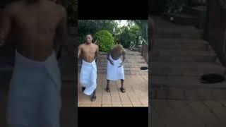 Pirates players, Ofori, Maela, Lorch dancing to JazziQ Umsebenzi Wethu.