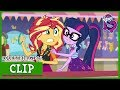 Twilight & Sunset Come Across Flim & Flam's Ring Toss Game | MLP: EG | Rollercoaster of Friendship