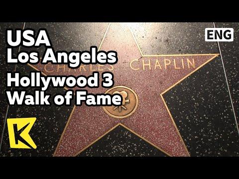 【K】USA Travel-Los Angeles[미국 여행-로스앤젤레스]할리우드 명예의 거리/Hollywood 3 Walk of Fame/Star Copper plate