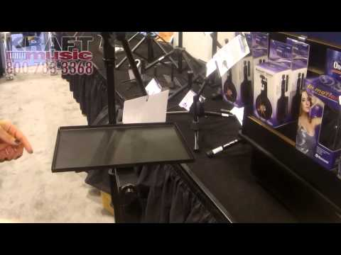 Kraft Music - On-Stage Stands MST1000 Clamp on Accessory Tray NAMM 2015