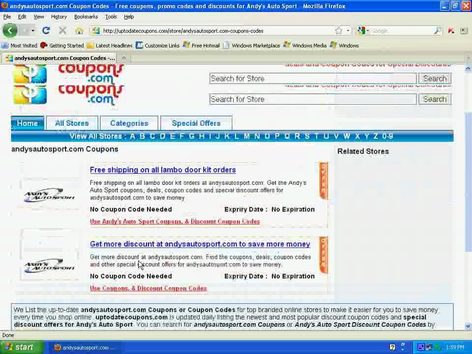 www uptodatecoupons com how to use andysautosport com coupons
