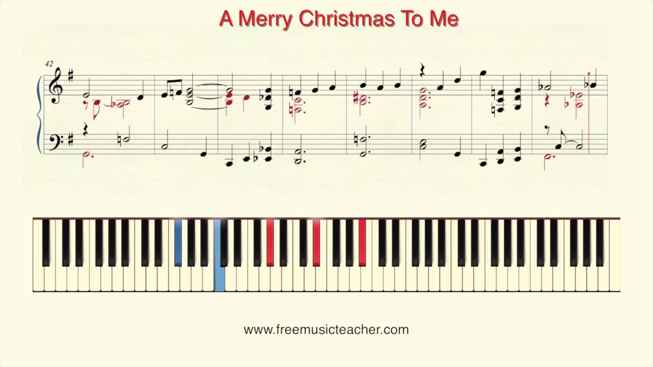 how to play piano a merry christmas to me - Merry Christmas To Me