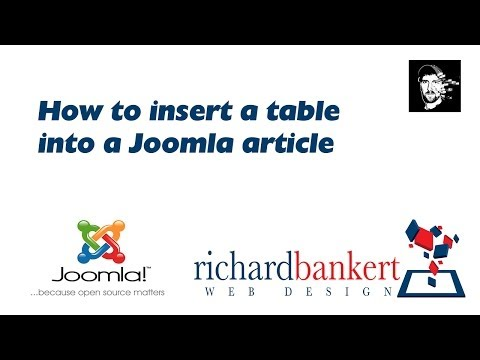 How To Insert A Table Into A Joomla Article