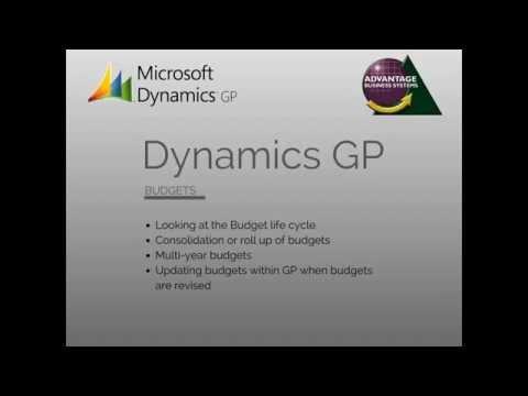 Microsoft Dynamics GP - Budgets
