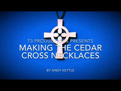 Making The Cedar Cross Necklaces